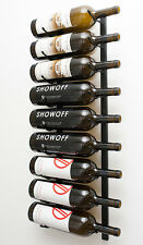 9 Bottle Magnum VintageView® Metal Wall Mounting Wine Rack. Satin Black Finish