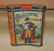 Antique Continental Cubes Vertical Pocket Tobacco Tin, Advertising, Washington