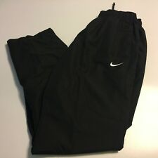 "NIKE Open Hem Club BLACK Sweatpants Polyester Mens Size Large x 31"" Inseam"