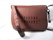 Lucky BRAND Kingston Flap Crossbody Brandy Brown Leather Handbag