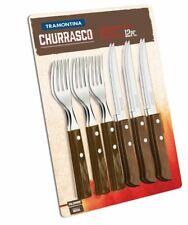 Tramontina Churrasco Steak Knife 12 Piece Set Barbecue Knife and Fork Set