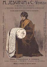 PUBBLICITA'1906 JESURUM VENEZIA BURANO PELLESTRINA CHIOGGIA MERLETTI PIZZI TRINE