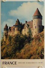 Affiche Tourisme France CHATEAUX DU BERRY 1956 Forteresse Médiévale CULAN