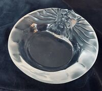 Lalique Lion Head Ashtray Or Candy Dish Or Use It For Keys Or Ring dish