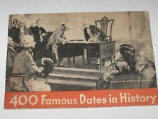 400 FAMOUS DATES IN HISTORY Vintage 1934 Chase & Sanborn Booklet