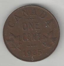 CANADA,  1935,  CENT,  BRONZE,  KM#28,  CHOICE EXTRA FINE