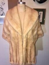 New listing Vintage 50'S Lovely! Tan/Beige Mink Fur Stole Wrap Capelet Shawl Jacket