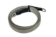 "5 foot - 1/2"" Ground Braid Jumper Strap with 1/4"" connectors MADE IN USA!"