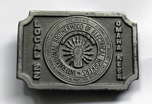 IBEW International Brotherhood Electrical Workers Belt Buckle Local 22