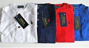 Boys Ralph Lauren Grandad Cotton Short Sleeve 3 Button top- 2yr - 20yr CLEARANCE
