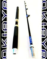 "OKIAYA COMPOSIT 50-80LB ""THE BEAST"" SALTWATER BIG GAME PORTABLE ROLLER ROD 6ft"