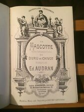 Edmond Audran Réunion trois opéras partition piano seul éditions Choudens