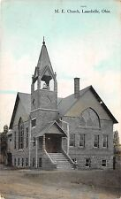 C2/ Laurelville Ohio Postcard 1910 M.E. Church Building Logan Hocking County