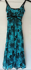JANE NORMAN Blue Floral Spaghetti Strap Party Dress Size 6 BNWT RRP  £40.00