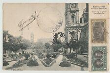 Buenos Aires Republica Argentina stamp jardin de la Iglesia 1910 Postcard