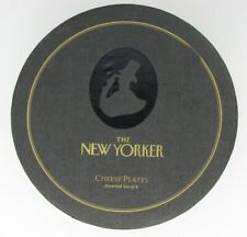 New listing Exclusive Set 6 Restoration Hardware New Yorker Magazine Cartoon Cheese Plates