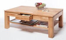 Couchtisch-Tisch Kern Buche massiv geölt mit Schublade und Ablage neu und OVP!!!