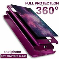 360° Full Body Case Cover+Screen Protector For iPhone 12 Mini 11 Pro Max XS XR 8