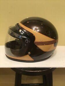 Vintage  Arctic Cat Pantera Snowmobile Helmet Full Face Brown metal flake sz L