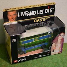 JAMES BOND 007 CORGI CC06101 LEYLAND R.T. DOUBLE BECKER BUS LIVE AND LET DIE