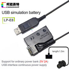 AC Power Supply Adapter ACK-E8 Replacement for Canon EOS  550D 600D 650D Camera