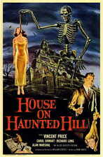 HOUSE ON HAUNTED HILL Movie Promo POSTER Vincent Price Carol Ohmart Richard Long