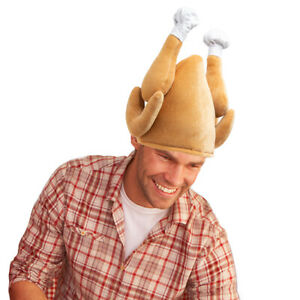Plush Roasted Turkey Hats Thanksgiving Halloween Holiday Trot Costume Accessory