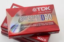 Lot (4) TDK Superior D90 Audio Cassette Tape New Sealed Packaging