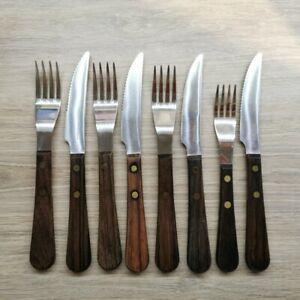 David Mellor 'PROVENCAL' Wooden Dinner Forks & Knives c.1975 Vintage.