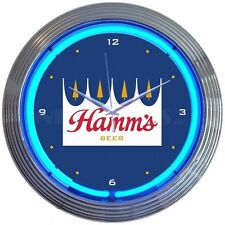 Neon Clock Hamms Beer Neon Wall Clock Retro Bar Neonetics