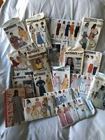 Amazing Lot 19 Ladies Butterick 1980s Misc Patterns, Cut/ Uncut