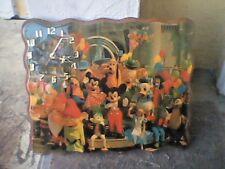 Vintage Disney World Wooden Clock, good working condition Rare!