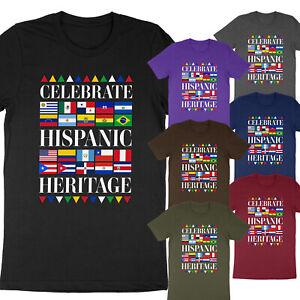 Celebrate Hispanic Heritage Month 2021 Spanish Latina Countries Flags T-Shirt