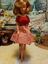 Vintage 1963 Tressy Doll American Character Growing Hair Key Red Dress Nice Doll