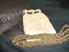 heavy 102 grm OROTON thick intertwined gold and silver rope necklace VINTAGE,