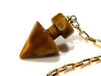 Pendule pyramide voyance  pierre oeil de tigre  radiesthésie
