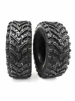 (2) 22X11.00-10 Mud Crusher Rear ATV Tires 6Ply HEAVY DUTY New Tires 22x11-10