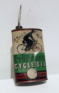 WAKEFIELD EVERYMAN cycle oiler automobilia sign shell