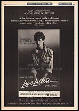 LOVE LETTERS__Original 1983 Trade print AD/ poster_movie promo__JAMIE LEE CURTIS