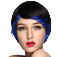 Blue Synthetic Straight Wigs & Hairpieces