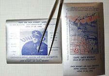 Chicago's Annual Air Mail Exhibition 1946 Jack Knight Philatelic Souvenir Label
