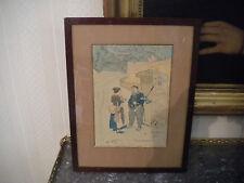 Alfred Daguet,Aquarelle et encre de Chine ,1915.
