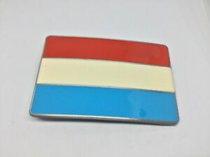 NETHERLANDS / LUXEMBOURG Flag New BELT BUCKLE Dutch Holland Red White Blue Flag