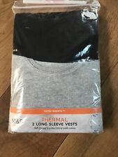 New M & S Boys  2  Thermal Tops  Set Ski /Outdoor /Walking  9 - 10   Years