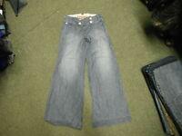 """River Island lockere Jeans Größe 8 Leg 31 """" verblichen dunkelblau Damen Jeans"""