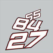 Aufkleber Ihre Startnummer im Marquez-Design #0576