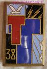 IN18941 - Insigne38° Regiment Of Firefighters Telegraph Operators, T Vermillion,
