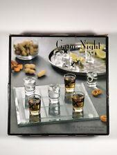 Game Niight Tic Tac Toe Drinking Game Glass Board 9 Shot Glasses