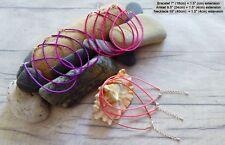 Purples Bead Boho Summer Hippy Love Adjustable Seed Bead Anklet Bracelet Pink &