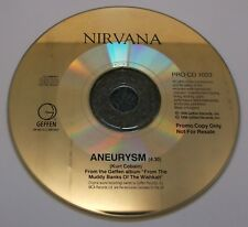 NIRVANA Aneurysm 1996 UK 1-track promo CD PROCD1033